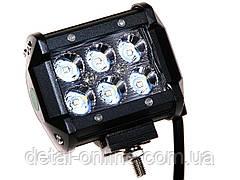Фара дополнительная Extreme LED 30W (6x5W CREE) прямоугольная, 2100lm, 9-64V (Flood) 950-990320001