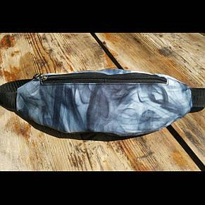 Бананка принт один отдел, сумка на пояс барыжка серая, фото 2