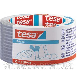 Лента тканевая клейкая Теса 25 м х 50 мм (Tesa Basic)