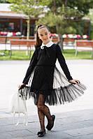 Платье детское школьное с евро-сеткой, фото 1
