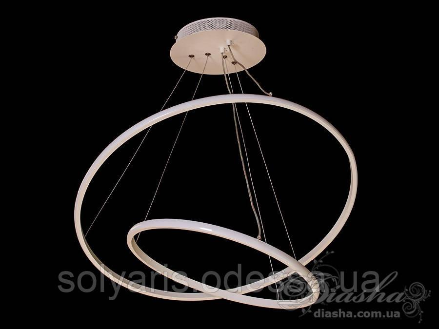 LED люстра подвесная кольца, 45W MD7990-2AWH-600+400