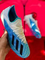 Бутсы футбольные Adidas X 19.3 Синие