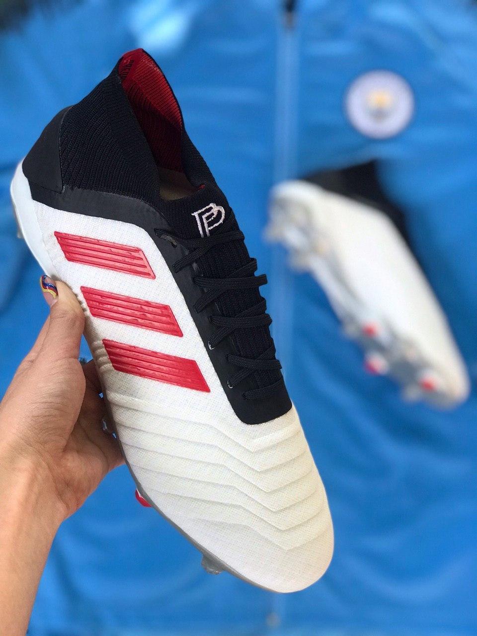 Бутсы футбольные Adidas Predator 19+FG Paul Pogba Белые