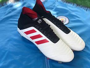 Бутсы футбольные Adidas Predator 19+FG Paul Pogba Белые, фото 2