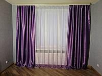 Комплект готовые плотные шторы с тюлью в спальню, детскую