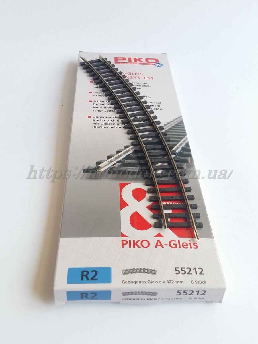 PIKO A-Gleis 55212  Рельсы радиусные R2 ( радиус кривой 421,88мм 30° / 1:87