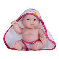 JC Toys - Пупс Лулу с розовым полотенечком, 20 см