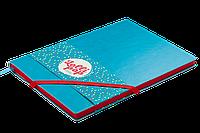 Блокнот деловой lollipop logo2u А5, 96л., клетка, обложка искусственная кожа, бирюзовый bm.295103-06