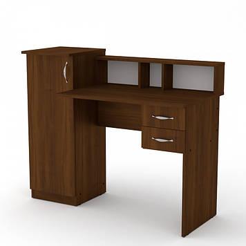 Стол компьютерный Компанит Пі-Пі-1 орех (кромка ПВХ)