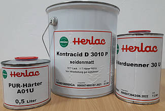Паркетный лак Герлак Контрацид Д3010Р , шелковисто-матовый (комплект 5,5 л без разбавителя)