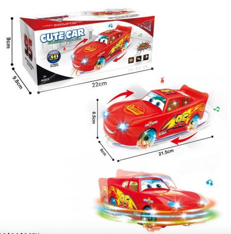 Музыкальная игрушечная машинка.Машинка со светом и звуком.Детская машинка на батарейках.