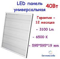 Светодиодная панель PRISMATIC 128 LED, 40W, 6500K IP40, 595*595*19 мм, фото 1