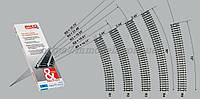 PIKO A-Gleis 55213  Рельсы радиусные R3 ( радиус кривой 483,75 мм 30° / 1:87, фото 1