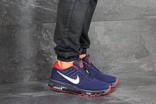 Мужские кроссовки Nike Air Max 2017,темно синие с красным, фото 2