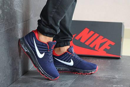 Чоловічі кросівки Nike Air Max 2017,темно сині з червоним, фото 2