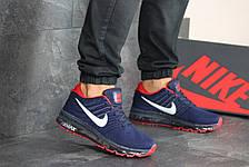 Мужские кроссовки Nike Air Max 2017,темно синие с красным, фото 3
