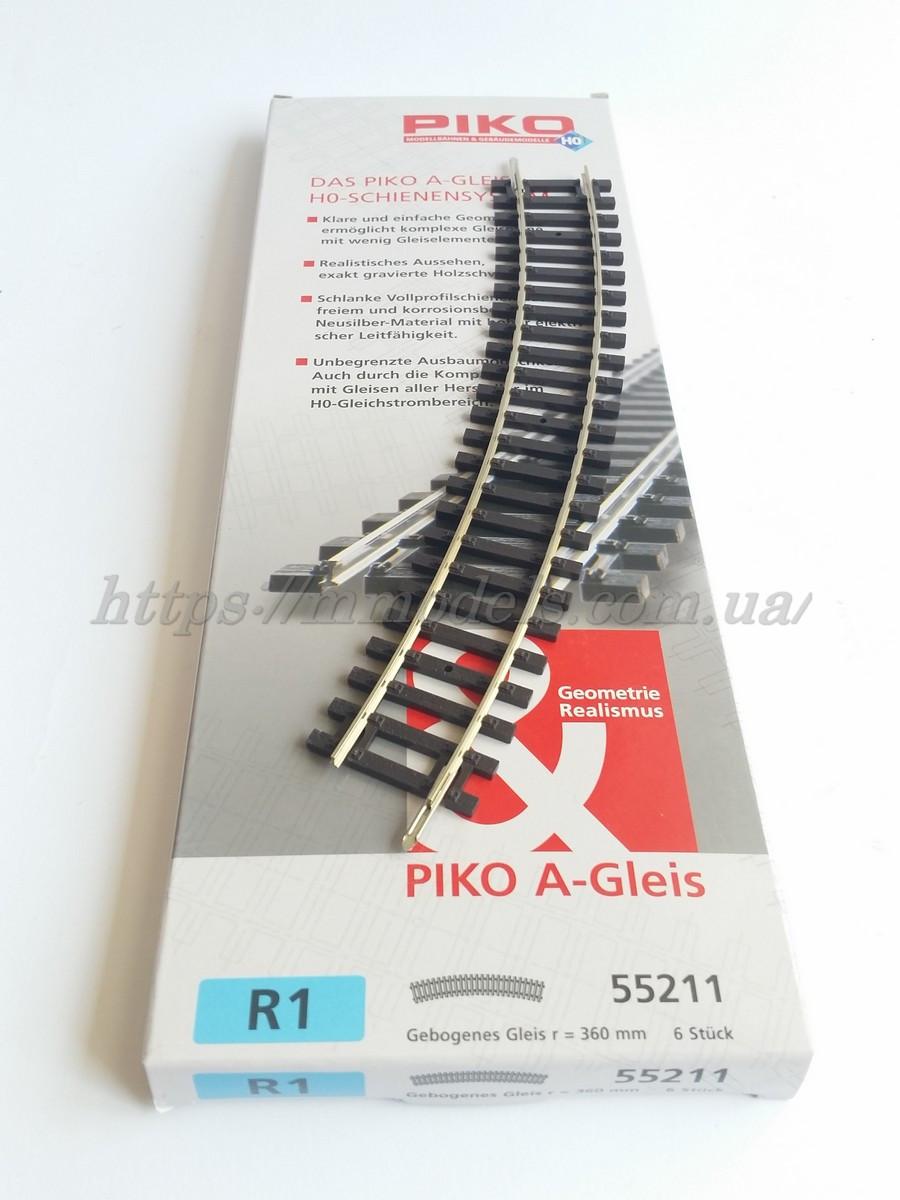PIKO A-Gleis 55211  Рельсы радиусные R1 ( радиус кривой 360 мм 30° / 1:87