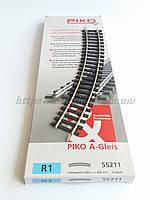 PIKO A-Gleis 55211  Рельсы радиусные R1 ( радиус кривой 360 мм 30° / 1:87, фото 1