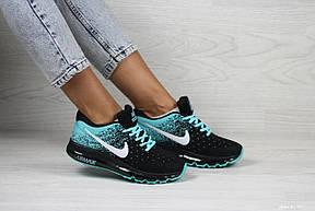 Женские кроссовки Nike air max 2017,черные с мятным, фото 2