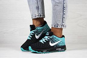 Женские кроссовки Nike air max 2017,черные с мятным, фото 3