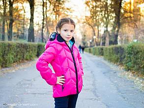 Детская куртка для девочки Верхняя одежда для девочек AI RIDERS Италия GCG110 Розовый