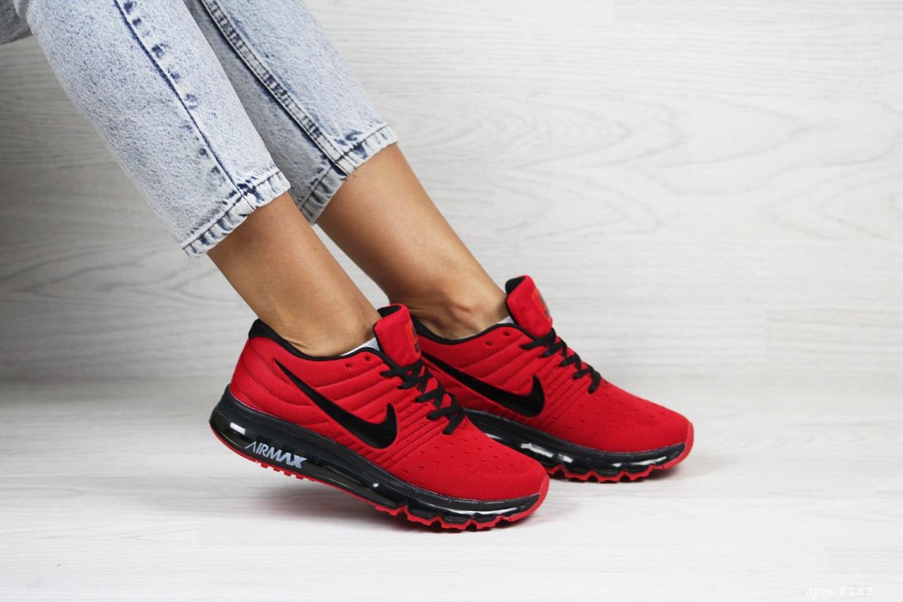 Женские кроссовки Nike air max 2017,красные