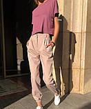 Брюки женские.  Цвет: серый, чёрный, пудра, голубой, фото 7