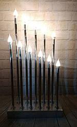 Свечи свадебные из хром трубы  для фотозоны