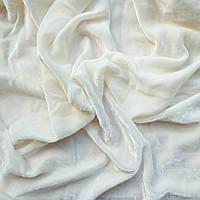 Бархат ШЕЛКОВЫЙ, основа для вышивки, белый - 26*30 см