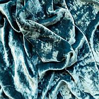 Бархат ШЕЛКОВЫЙ, основа для вышивки, морская волна - 25*34 см
