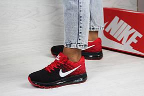 Женские кроссовки Nike air max 2017,черные с красным, фото 2
