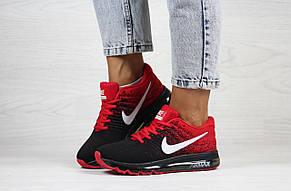 Женские кроссовки Nike air max 2017,черные с красным, фото 3