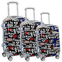 Набор пластиковых чемоданов 3в1 на 4-х колесах, фото 1