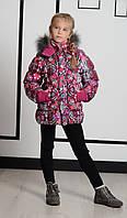 Детская куртка для девочки Верхняя одежда для девочек Pezzo D'oro Италия S06 K64005 Красный