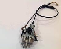 Карбюратор Pz30 c ускорительным насосом + трос газа (двойной) PZ30