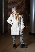 Детское пальто для девочки Верхняя одежда для девочек SILVIAN HEACH Италия MDJI6191PI Белый