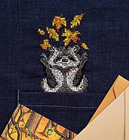 """Набір для вишивання хрестиком на одязі """"Єнотик""""  ,6*9 см Abris art"""