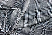 Ткань трикотаж осенний, мягкий,  стрейч, плотный, без начеса, полоса голубая  пог. м. № 240, фото 1