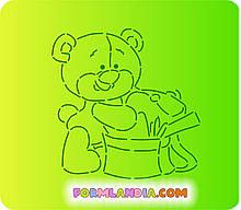 Трафарет + формочка-вырубка для пряников Мишка школьный №4