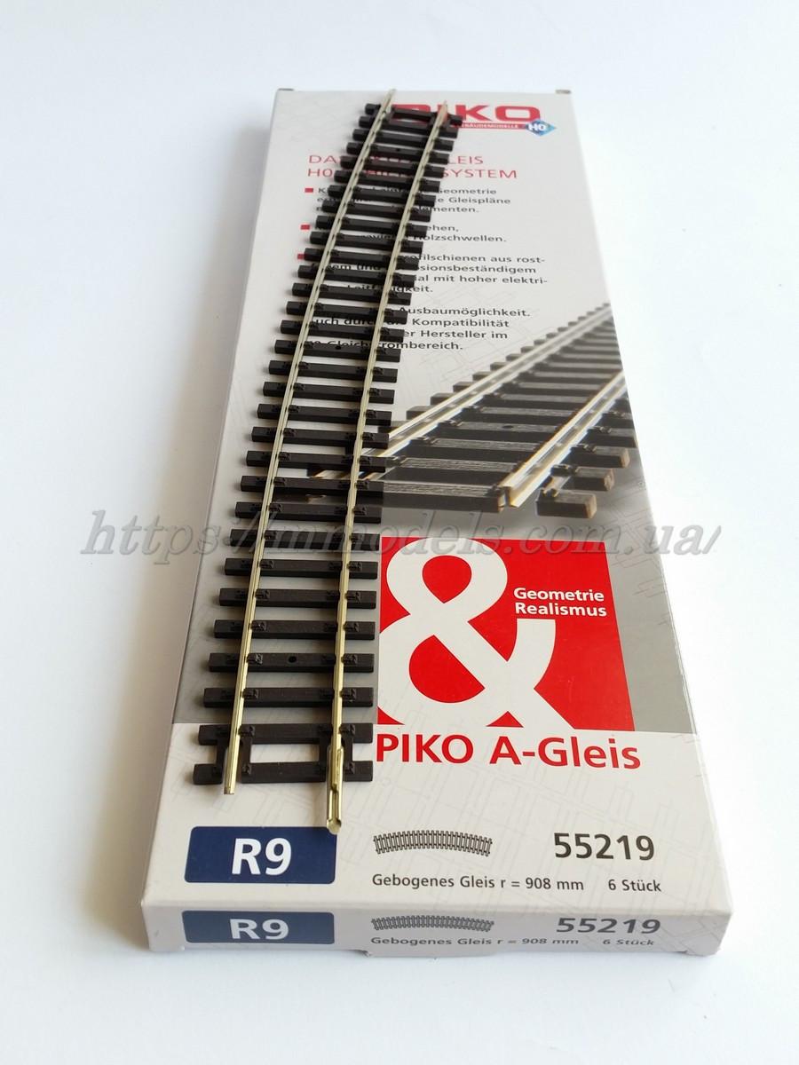 PIKO A-Gleis 55219  Рельсы радиусные R9 c радиусом кривой 907,97 мм 30° / 1:87