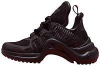 Женские кроссовки Louis Vuitton Archlight Black (луи витон, черные)
