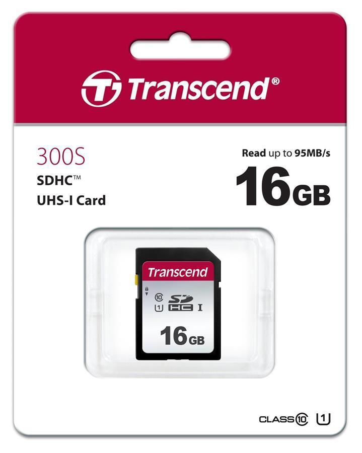 Карта памяти Transcend SDHC 16GB UHS-I C10 U1 300S 95MB/s / в магазине
