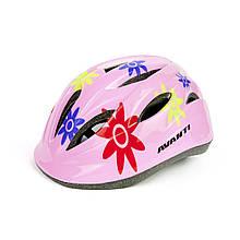 Шлем детский AVANTI розовый (цветы) AV-021 12 отв. (408060)