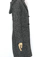 пальто букле з капюшоном, фото 2