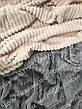 Велюровое покрывало плед Полоска Шарпей Полуторное 160х200, фото 3