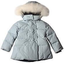 Детское пальто для девочки малышки BRUMS Италия 143BEAA010 Серый 86