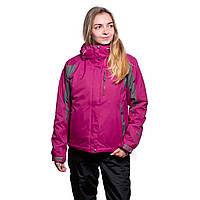 Женская горнолыжная куртка The North Face (3в1) 10311-4 малиновая