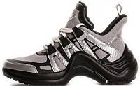 Женские кроссовки Louis Vuitton Archlight Black Silver (луи витон, черные/серые)