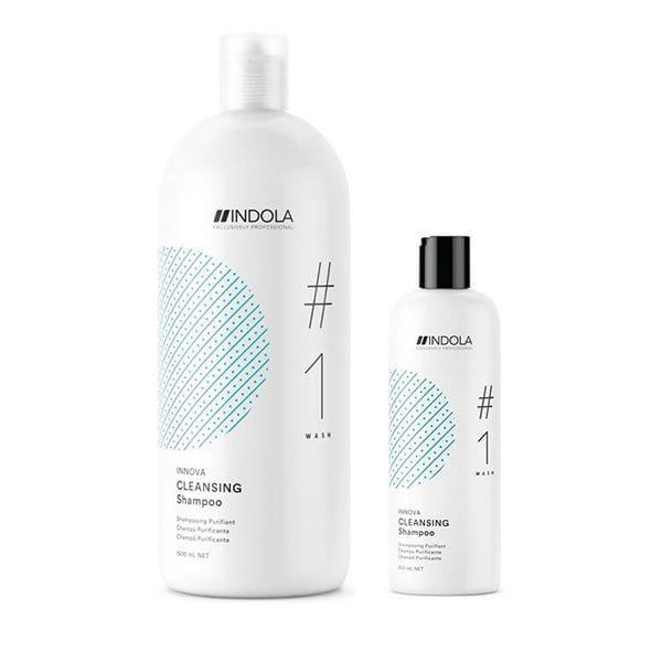 Очищающий шампунь Indola Cleansing Shampoo  для жирной кожи головы 300 мл