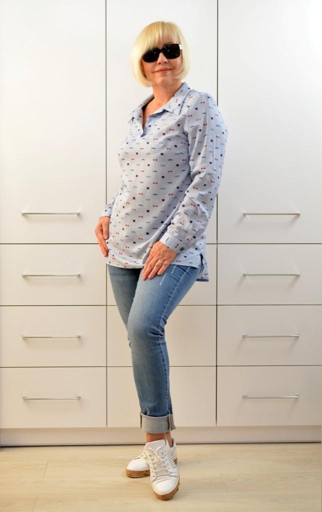 Рубашка коттон принт - Модель Л417-4 - 56,58,60 размеры